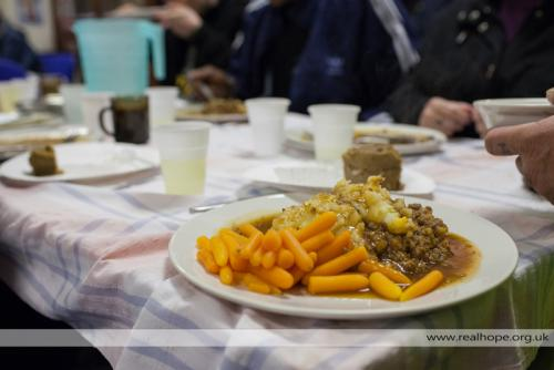 Real Hope - a weekly meal for the homeless and vulnerable.